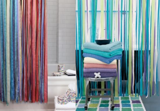 Steal Of The Day Garnet Hill Ribbon Shower Curtain