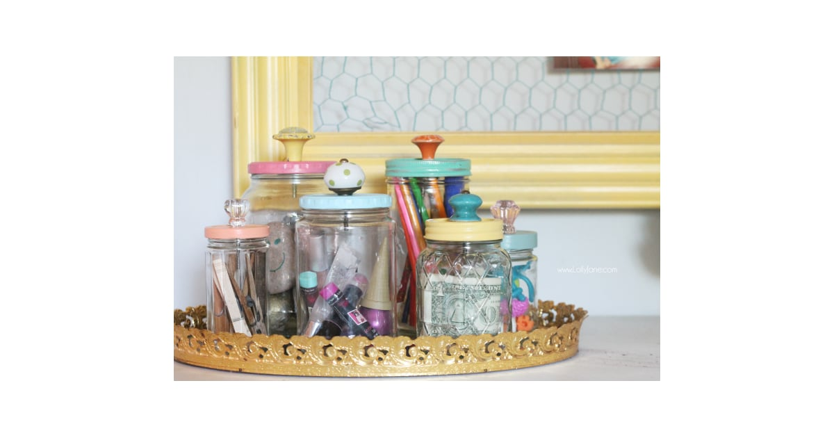 Mason Jars With Knobs | Cool Upcycling Projects | POPSUGAR ...