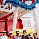 "Johnny had his bachelor party at Pub 687 on Disney Dream. Disney designed a custom drink after the groom, dubbed ""The Johnny V"" — ""a potent concoction consisting of a shot of Patron Silver, dropped into a glass of Corona to be chugged,"" according to Johnny. ""A drink not for the weak by a long shot!"""