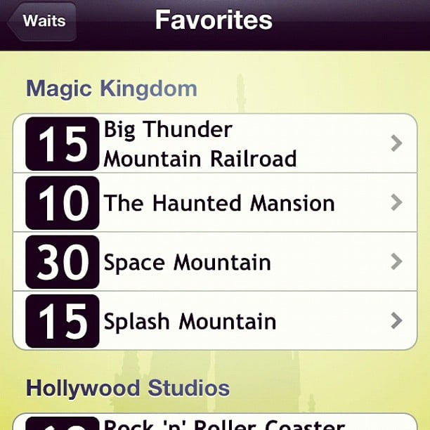 Download the Disney World Wait Times App Too