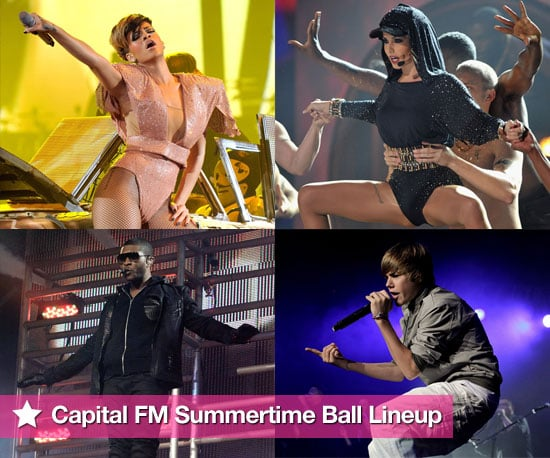 Pictures of the Captial FM Summertime Ball Lineup Feat Rihanna, Cheryl Cole, Usher, Justin Bieber, JLS, Dizzee Rascal