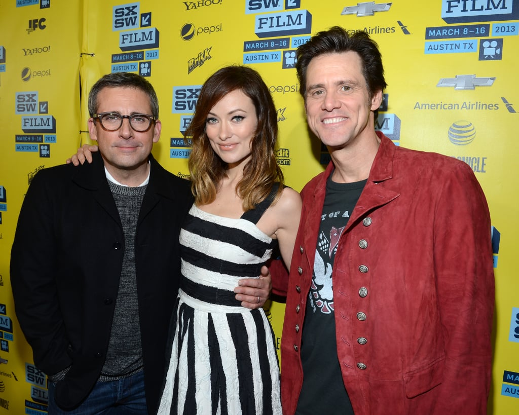 "Steve Carell, Olivia Wilde, and Jim Carrey gathered in Austin, TX, last night for the world premiere of their new comedy The Incredible Burt Wonderstone. The screening was the first to be held during the film section of the 2013 SXSW Music, Film + Interactive Festival in Texas. The red-carpet reunion for the trio came before they headed inside the city's Paramount Theatre for the screening and afterward a question-and-answer session. In the film, both Steve and Jim play magicians, and last night, Jim spoke about his interest in magic. He said, ""I've always had this weird relationship with magic. I think it's fascinating and yet it annoys me because I can't figure it out."" The movie is out on US theaters next Friday March 15 — make sure to check out the Incredible Burt Wonderstone trailer!"