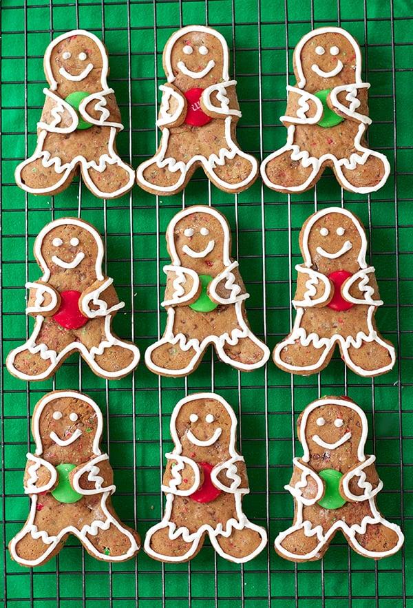 M&M Gingerbread Cookies