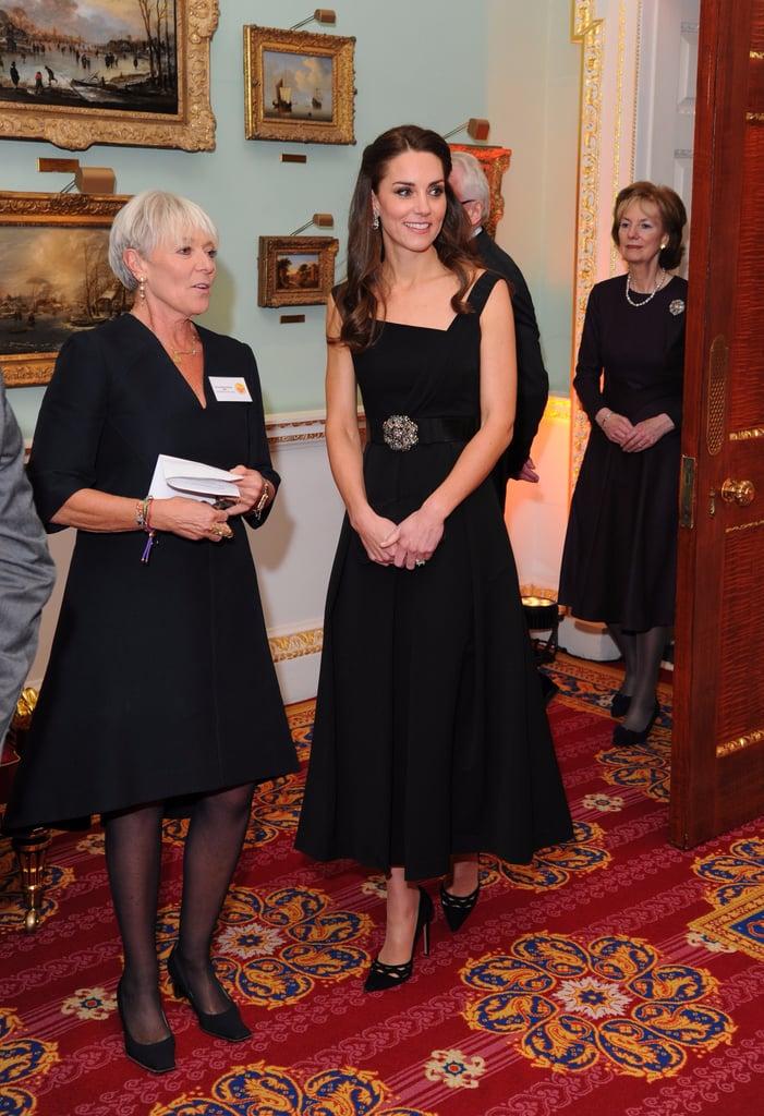 Kate Middleton Black Preen Dress at Place2Be Awards 2016