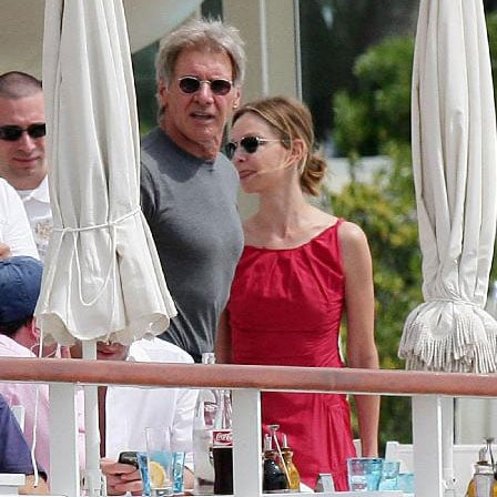 Harrison Ford and Calista Flockhart at the Hotel Eden Roc