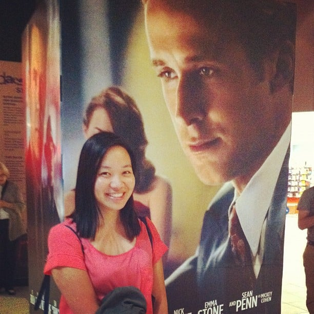 One cannot walk past a giant Ryan Gosling without pretending to be his leading lady. Jess fits right in, don't you think?
