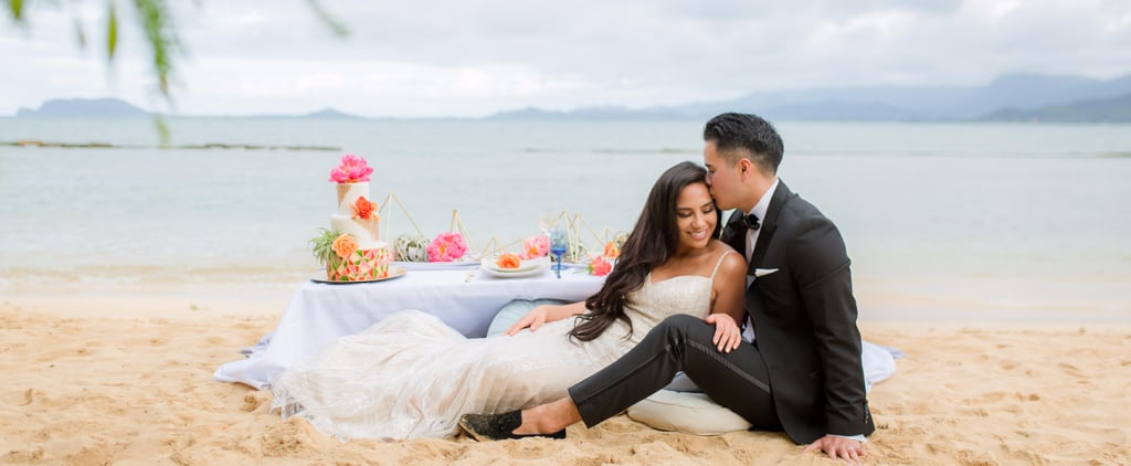 This Low-Key Hawaiian Wedding on the Beach Will Make You Want to Go to Honolulu