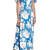 French Connection Cari Floral Flounce-Sleeve Crepe Maxi Dress