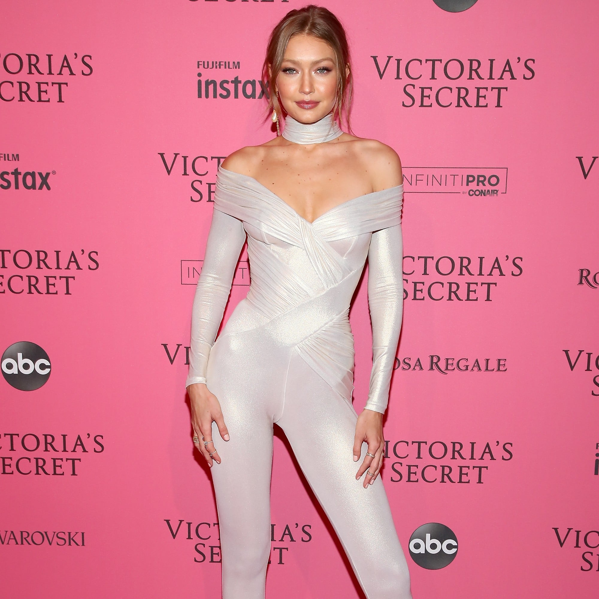 a112e576091 Gigi Hadid Catsuit at the 2018 Victoria s Secret After Party ...
