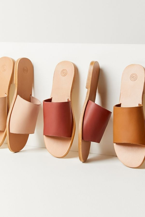 UO Soft Leather Slide Sandals