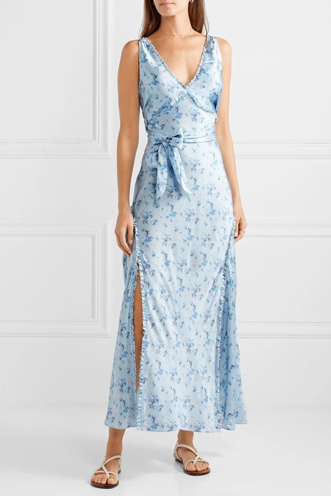 LoveShackFancy Kendall floral-print silk-satin maxi dress