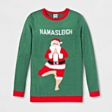 Adult Christmas Namasleigh Santa Ugly Sweater