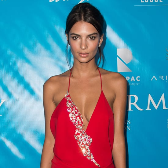 Emily Ratajkowski Red Alexandre Vauthier Dress 2016