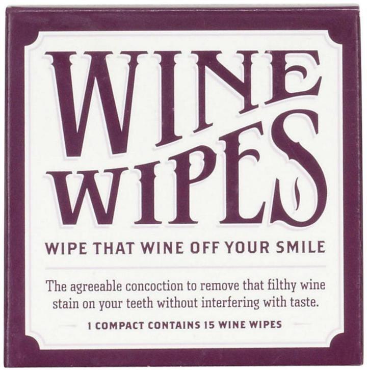 Cork Pops Wine Teeth Wipes ($9)