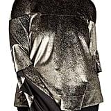 Rachel Roy Ruffle Sleeve Metallic Sweatshirt