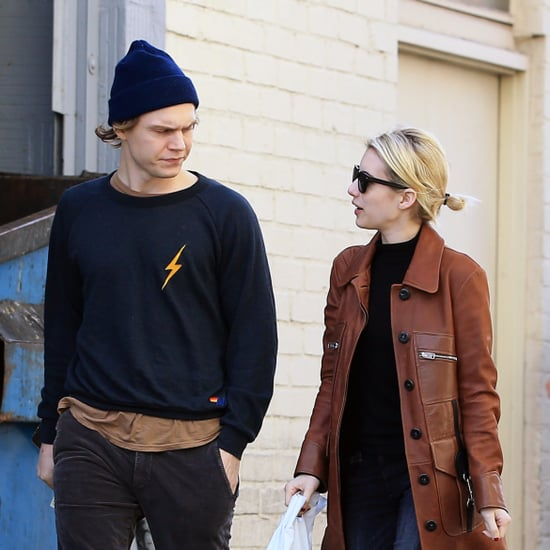 Emma Roberts and Evan Peters Out in LA January 2017