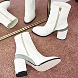 """""""This season, Dear Frances thought to offer its It girl classic, the Spirit Boot ($550), in stark white. I'll keep these in rotation through Winter, rolling my pants to show off the unique silhouette, but they'll surely add a mod touch to my flouncy dresses come Spring."""" — Sarah Wasilak, editor, Fashion"""