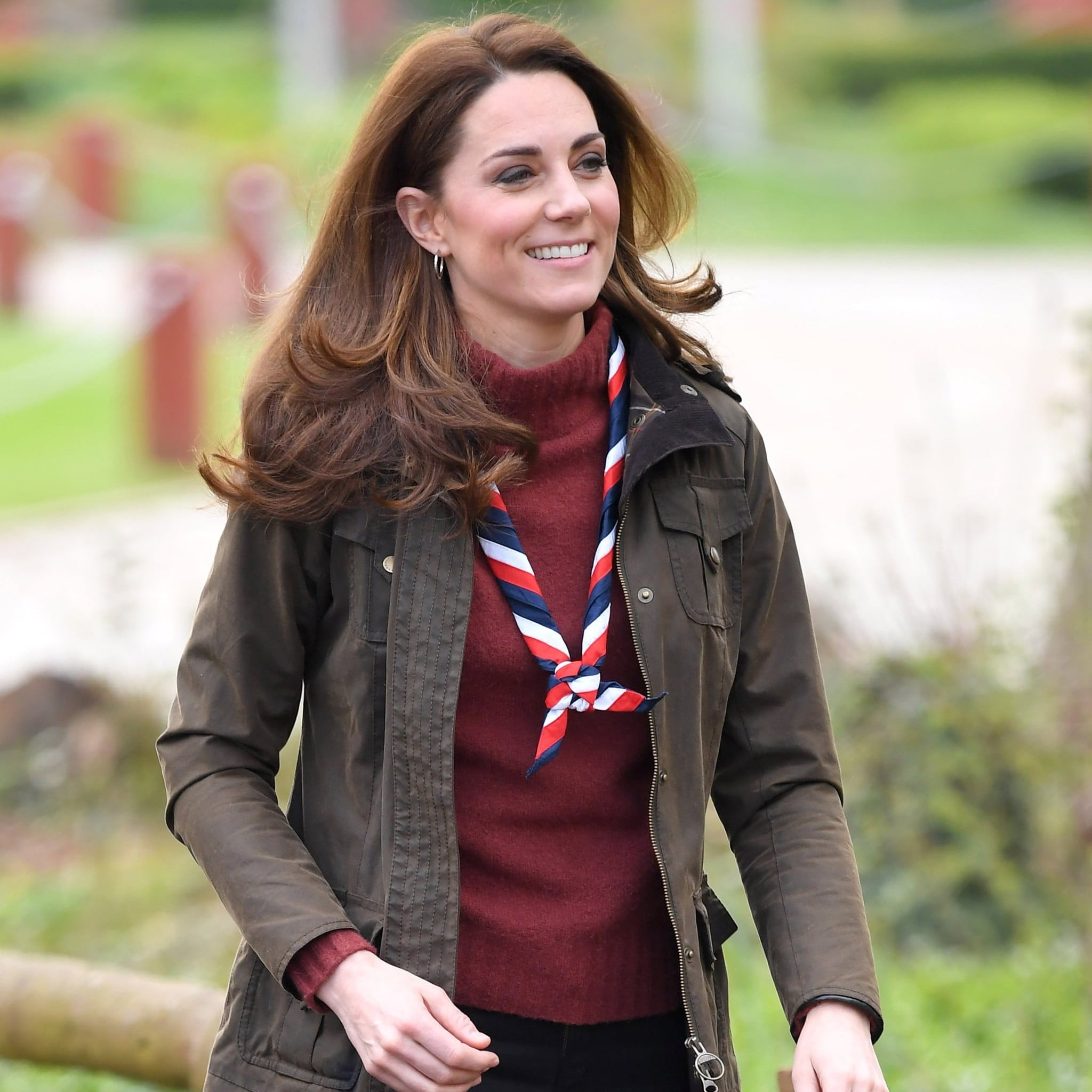 e36a2732ae Kate Middleton s J.Crew Sweater For Scouts Visit March 2019 ...