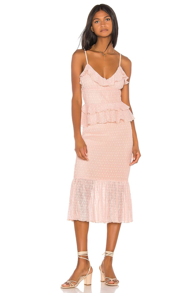 Song of Style Lucia Midi Dress in Pink Blush from Revolve.com
