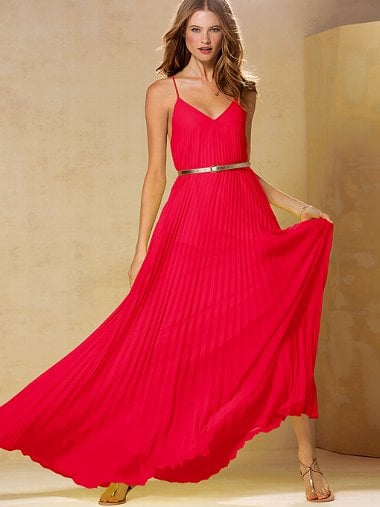 Victoria's Secret's knife-pleat maxi dress ($128) feels luxurious — but comes in under $200.
