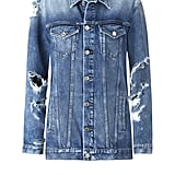 New Metallics Decorative Rips Denim Jacket ($60)