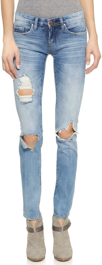 We're saying yes to this pair of distressed skinny jeans ($88).