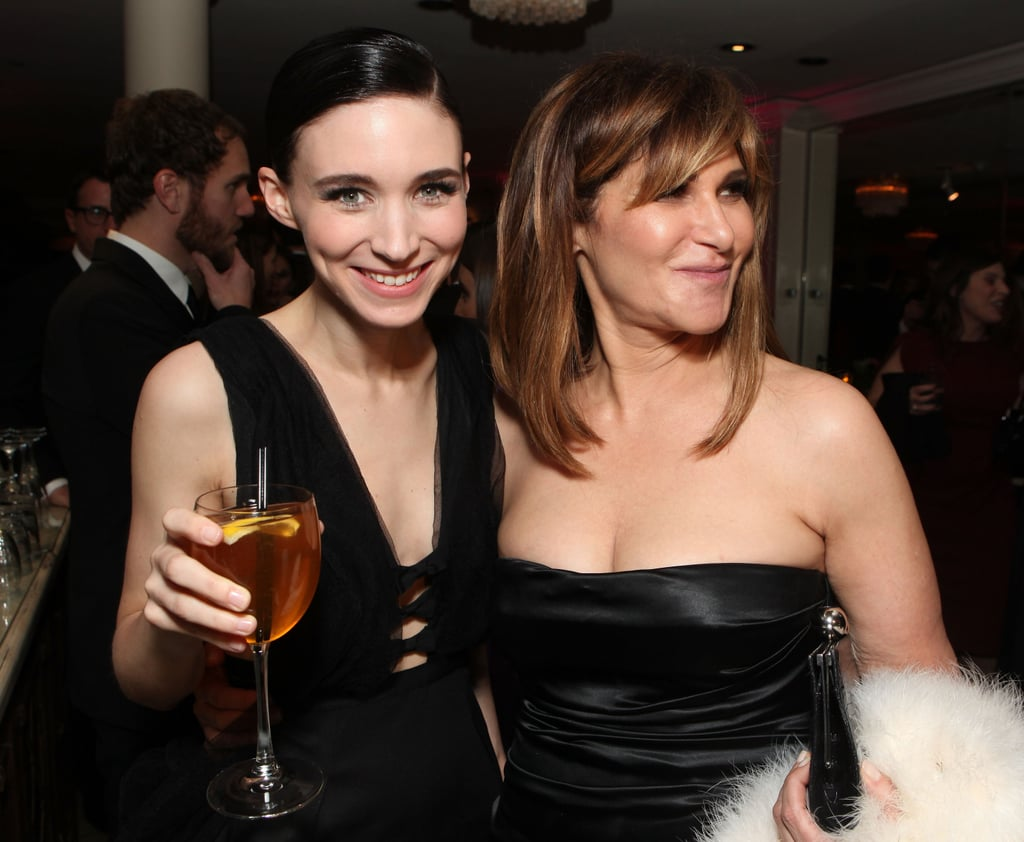 Rooney Mara raised a glass with Amy Pascal at the Sony Pictures Golden Globes party.