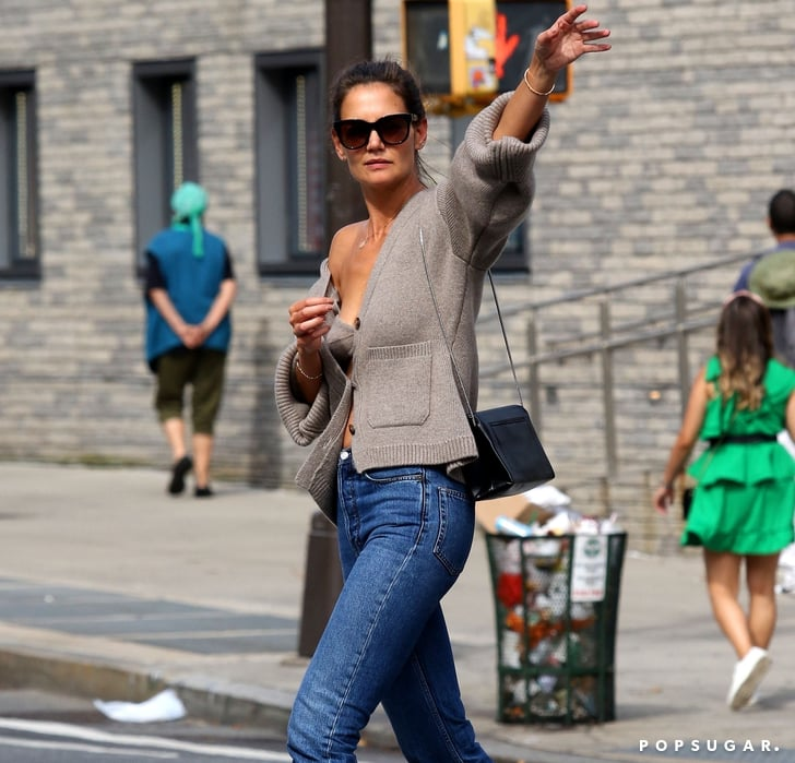 How to Wear a Cardigan Sweater Set Like Katie Holmes | POPSUGAR Fashion