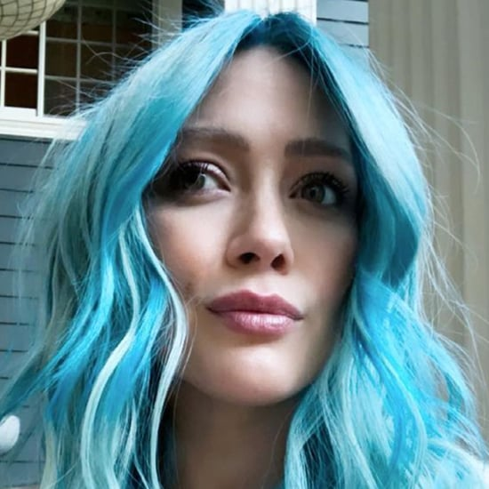 Hilary Duff Dyes Hair Bright Blue While 8 Months Pregnant