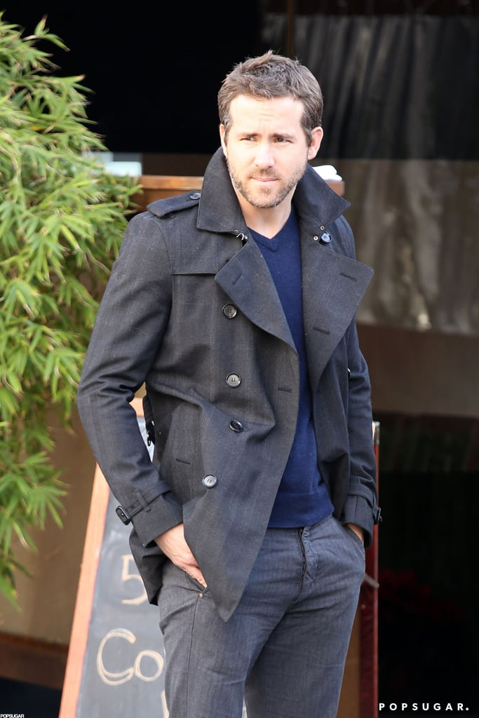 Ryan Reynolds met a friend for lunch at Japanese restaurant Kiwami in LA yesterday. He was layered up in a peacoat and sported sexy facial scruff for the afternoon outing. Ryan and his new wife, Blake Lively, are finishing up an exciting year that included their surprise wedding — are they your favorite newlyweds of 2012? We'll get a glimpse at their nuptials when the Winter issue of Martha Stewart Weddings hits newsstands on Christmas Eve. We've already seen Blake as a bride, though, since she and Penn Badgley's characters tied the knot on the final episode of Gossip Girl that aired on Monday.