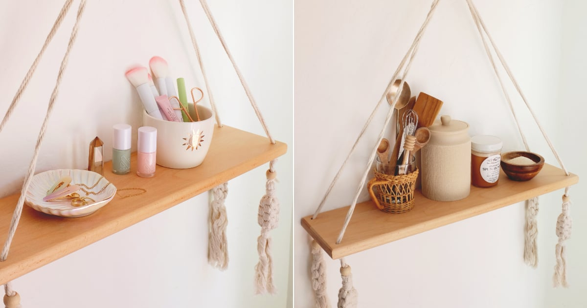 This $30 Hanging Wall Shelf Is So Versatile, We Styled It 5 Ways For Different Rooms
