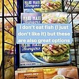 A Note on TJ's Shrimp, Tuna, Mahi-Mahi, and Salmon Burgers