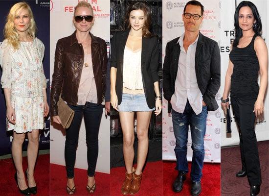 Photos of All the Celebrities at the Tribeca Film Festival 2010 Including Guy Pearce, Kirsten Dunst, Naomi Watts, Miranda Kerr