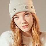 Urban Outfitters Embellished Double Knit Essential Beanie