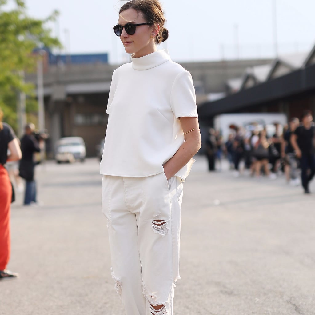 How to Find the Perfect White Jeans | POPSUGAR Fashion