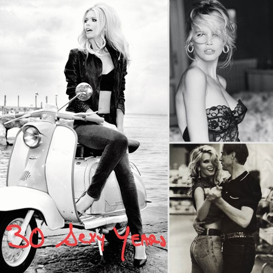claudia schiffer guess 30th anniversary ads popsugar fashion