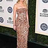 Amber heard added Vita Fede jewels to her sequined gown at the Art of Elysium gala.