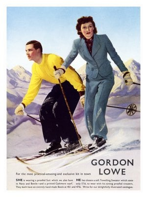 That doesn't look like the correct gear for skiing.