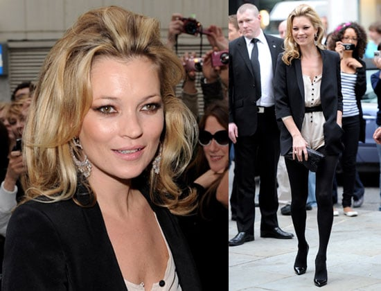 Pictures of Kate Moss at Knightsbridge Topshop Opening