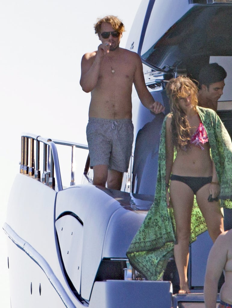 Leonardo DiCaprio went shirtless on a yacht during an August trip to Ibiza.