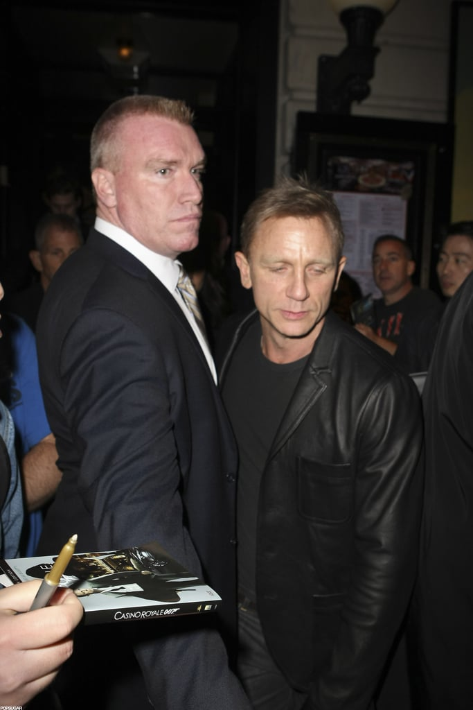 Daniel Craig stepped out to an SNL party in NYC.