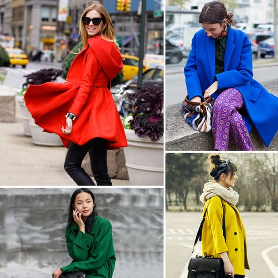 How to Wear Bright Coats in Winter 2012