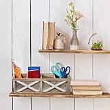 Barnyard Designs Rustic Vintage Wooden Desk Organiser