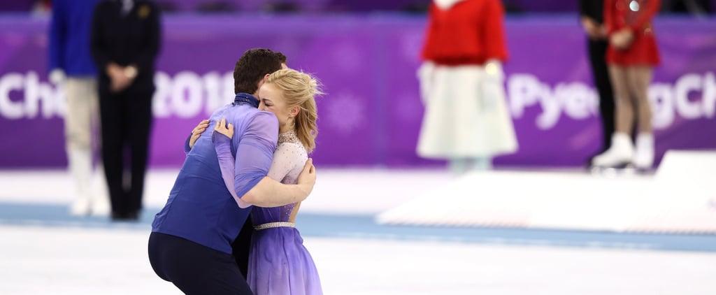 Aljona Savchenko Bruno Massot Winning Gold Reaction