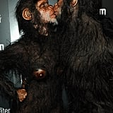 Heidi Klum and Seal take their costumes seriously! Over the weekend Heidi was a skinless body, and then at her 12th annual Halloween party last night the pair donned extremely realistic ape suits!