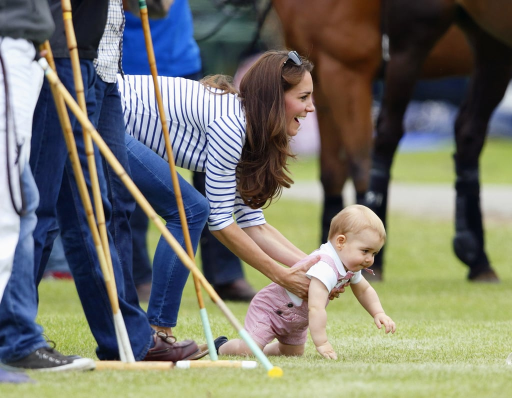 Prince George Crawls at Polo Match | Pictures
