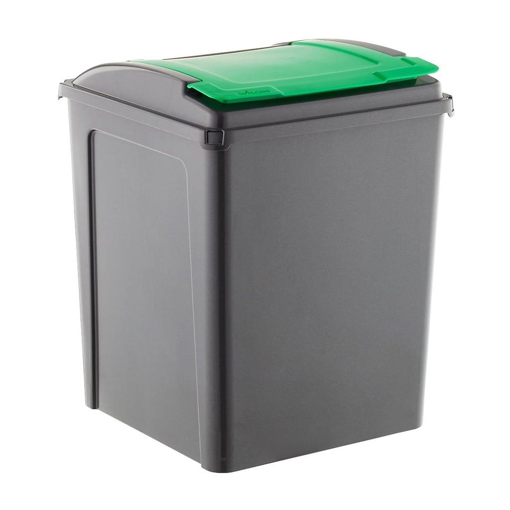 Graphite and Green 13 Gallon Recycling Bin