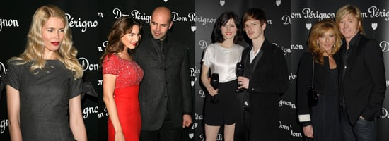 Claudia Schiffer, Sophie Ellis-Bextor, Kelly Brook and Nicky Clarke at Dom Perignon Party