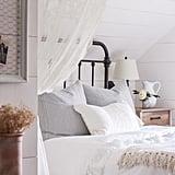 Use fluffy white bedding