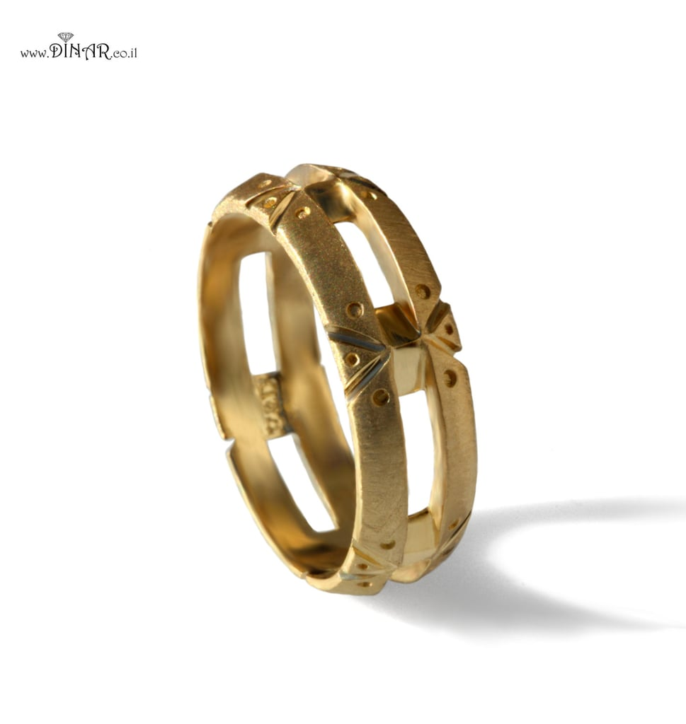 Steampunk Solid Gold Wedding Band ($900)